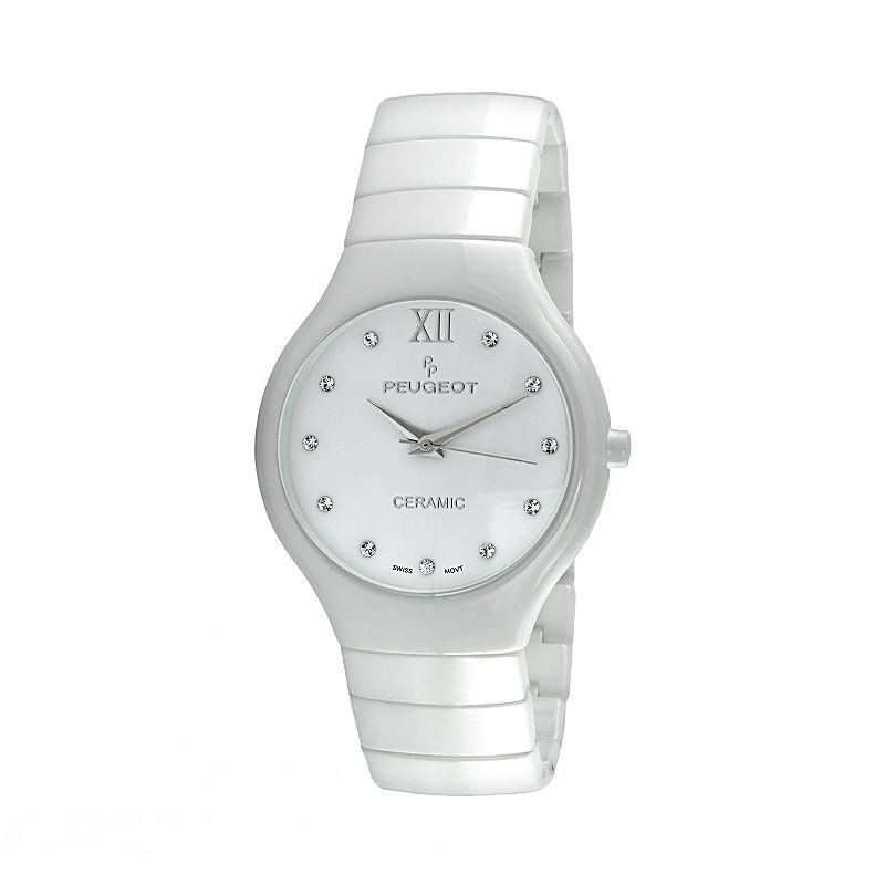 Peugeot Women's Ceramic Crystal Watch - PS4898WT