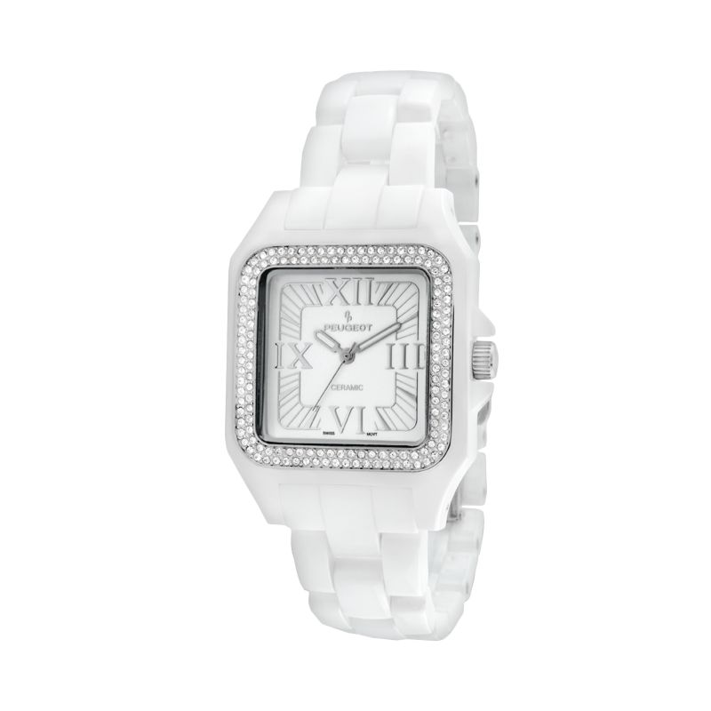 Peugeot Women's Crystal Watch - 7062WT, White thumbnail