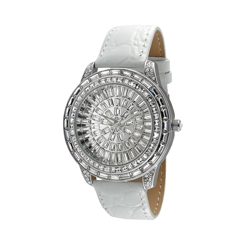 Peugeot Women's Crystal Leather Watch - J6013
