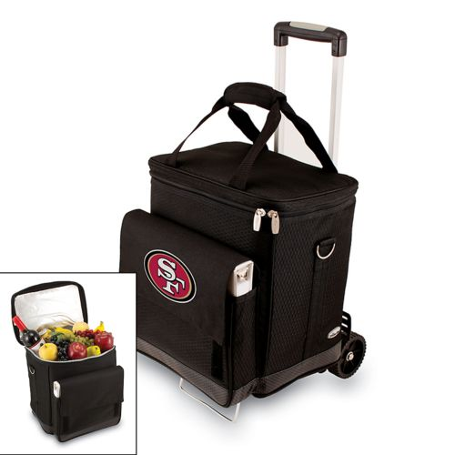Picnic Time San Francisco 49ers Cellar Insulated Wine Cooler and Hand Cart