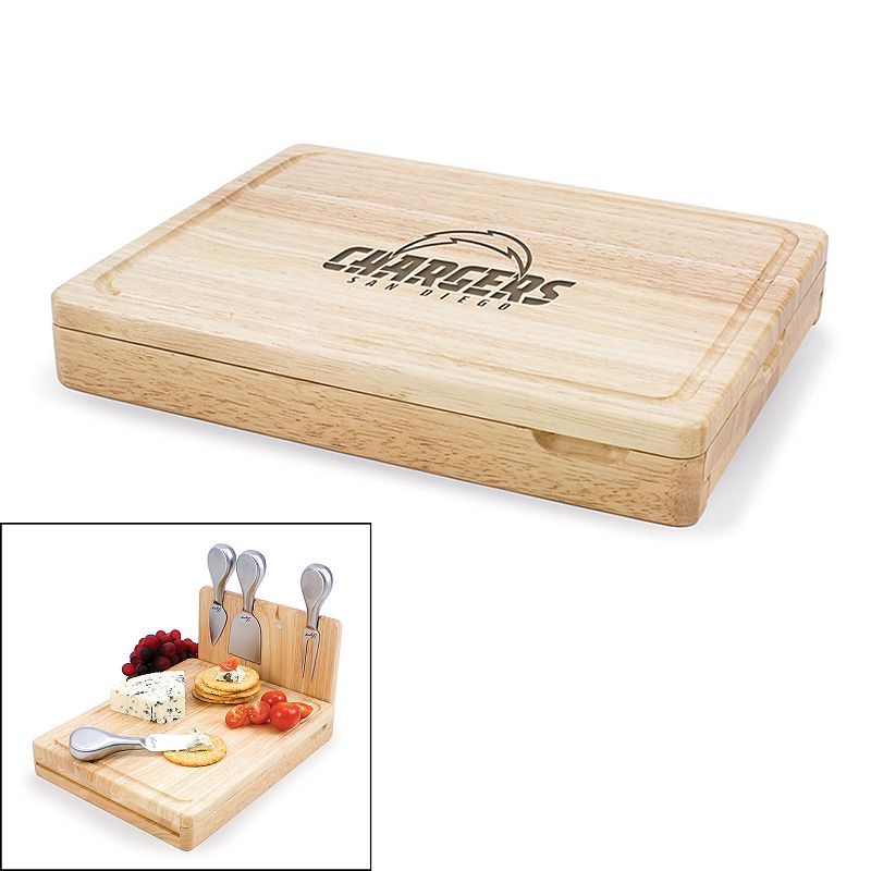 Picnic Time San Diego Chargers Asiago 5-pc. Cheese Board Set