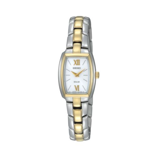 Seiko Women's Two Tone Stainless Steel Solar Watch - SUP070