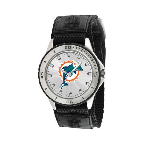 Game Time Veteran Series Miami Dolphins Silver Tone Watch - NFL-VET-MIA