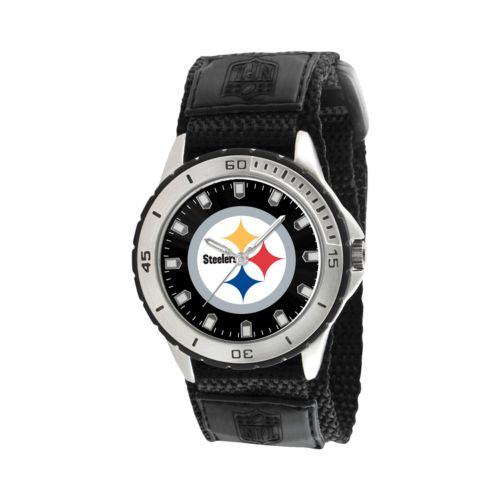 Game Time Veteran Series Pittsburgh Steelers Silver Tone Watch - NFL-VET-PIT