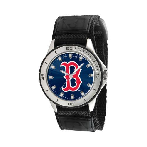 Game Time Veteran Series Boston Red Sox Silver Tone Watch - MLB-VET-BOS