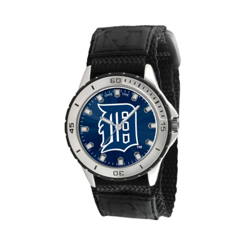 Game Time Veteran Series Detroit Tigers Silver Tone Watch - MLB-VET-DET