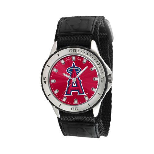 Game Time Veteran Series Los Angeles Angels of Anaheim Silver Tone Watch - MLB-VET-LAA