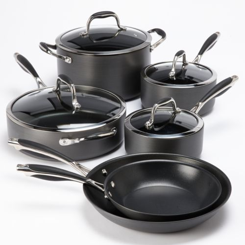 Bobby Flay™ 10-pc. Nonstick Hard-Anodized Cookware Set