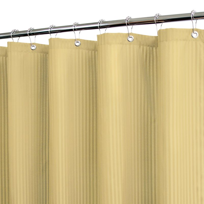 Watershed Satin-Striped Fabric Shower Curtain