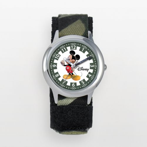 Disney Mickey Mouse Time Teacher Stainless Steel Camouflage Watch