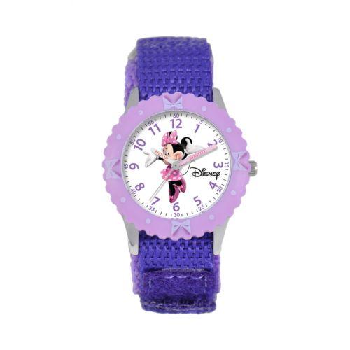Disney Minnie Mouse Time Teacher Stainless Steel Watch - Kids