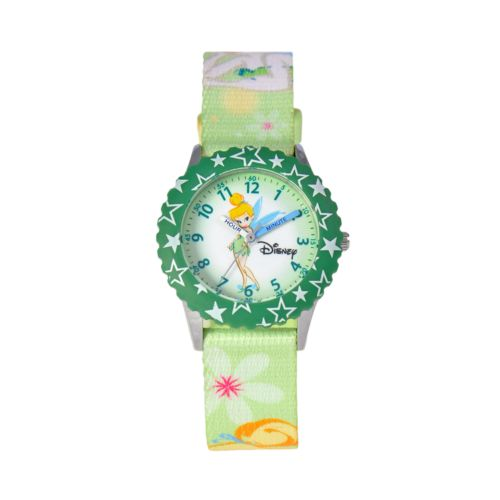 Disney Tinker Bell Time Teacher Stainless Steel Star Watch - Kids