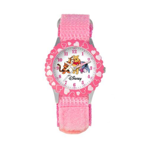 Winnie the Pooh Time Teacher Stainless Steel Heart Watch - Kids