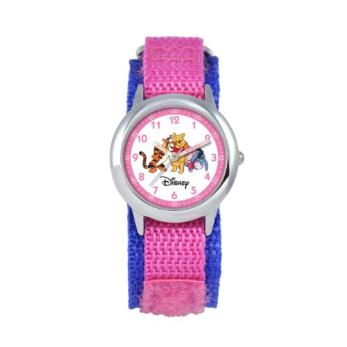 Winnie the Pooh Time Teacher Stainless Steel Watch - Kids