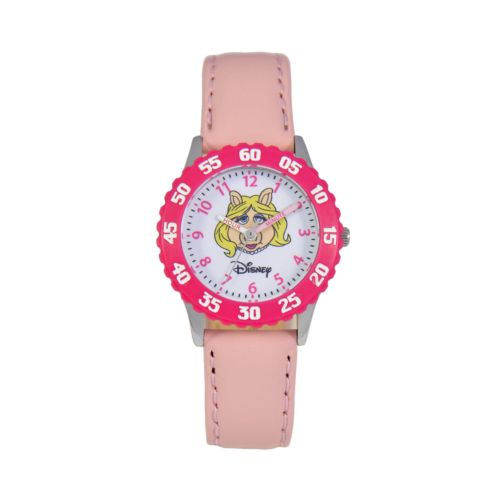 Disney Muppets Miss Piggy Time Teacher Stainless Steel Watch - Kids