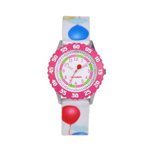 Red Balloon Time Teacher Stainless Steel Watch - Kids