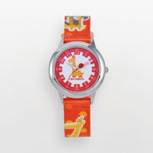 Red Balloon Time Teacher Stainless Steel Giraffe Watch - Kids