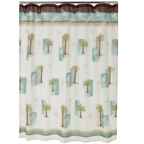 Croft & Barrow® Palm Isle Fabric Shower Curtain