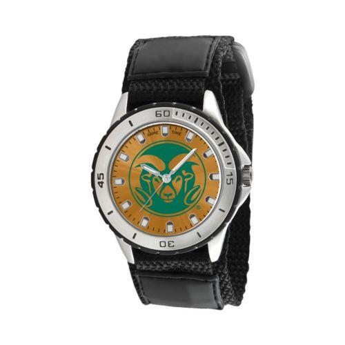 Game Time Veteran Series Colorado State Rams Silver Tone Watch - COL-VET-CSU