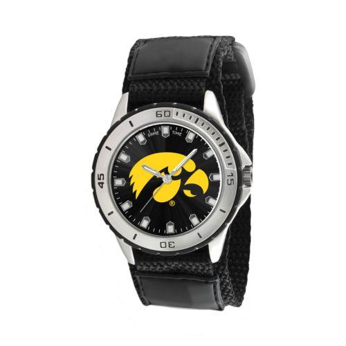 Game Time Veteran Series Iowa Hawkeyes Silver Tone Watch - COL-VET-IA