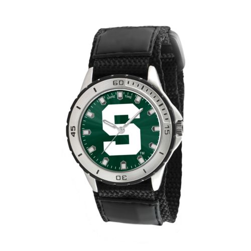 Game Time Veteran Series Michigan State Spartans Silver Tone Watch - COL-VET-MSU