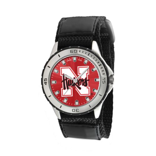Game Time Veteran Series Nebraska Cornhuskers Silver Tone Watch - COL-VET-NEB