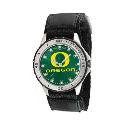 Game Time Veteran Series Oregon Ducks Silver Tone Watch - COL-VET-ORE - Men