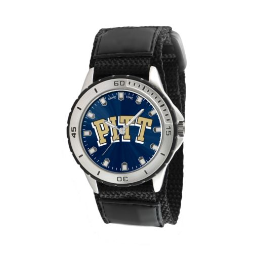 Game Time Veteran Series Pitt Panthers Silver Tone Watch - COL-VET-PIT