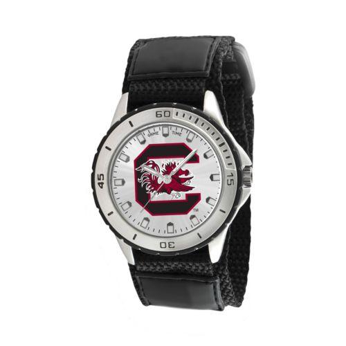 Game Time Veteran Series South Carolina Gamecocks Silver Tone Watch - COL-VET-SCA - Men