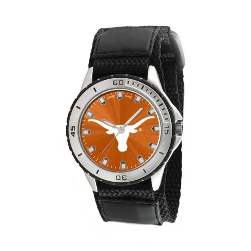 Game Time Veteran Series Texas Longhorns Silver Tone Watch - COL-VET-TEX