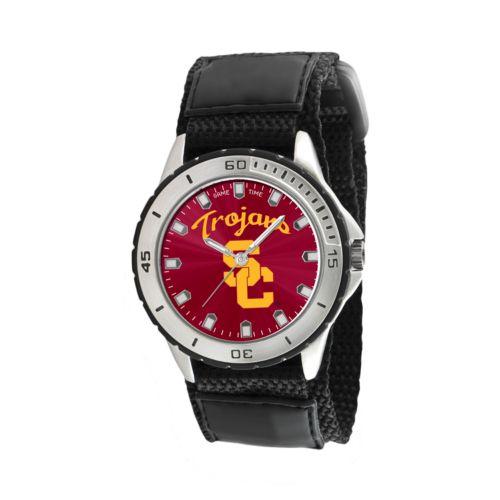 Game Time Veteran Series USC Trojans Silver Tone Watch - COL-VET-USC