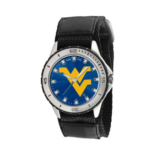 Game Time Veteran Series West Virginia Mountaineers Silver Tone Watch - COL-VET-WVU