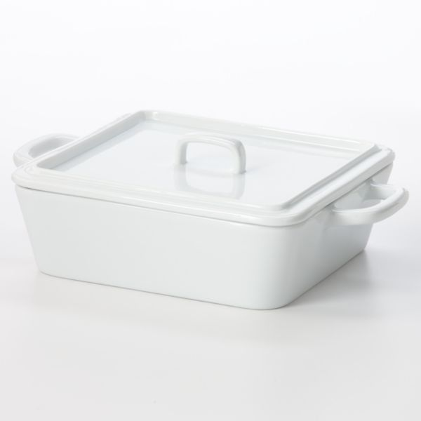 Food Network™ Porcelain 8.7-in. Square Covered Baking Dish