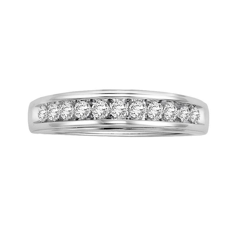 Cherish Always 14k White Gold 3/8-ct. T.W. Certified Round-Cut Diamond Wedding Ring
