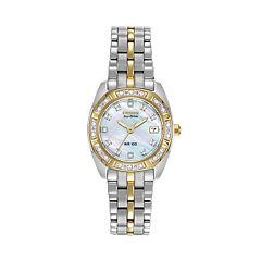 Citizen Eco-Drive Women's Paliadion Diamond Two Tone Stainless Steel Watch EW1594-55D