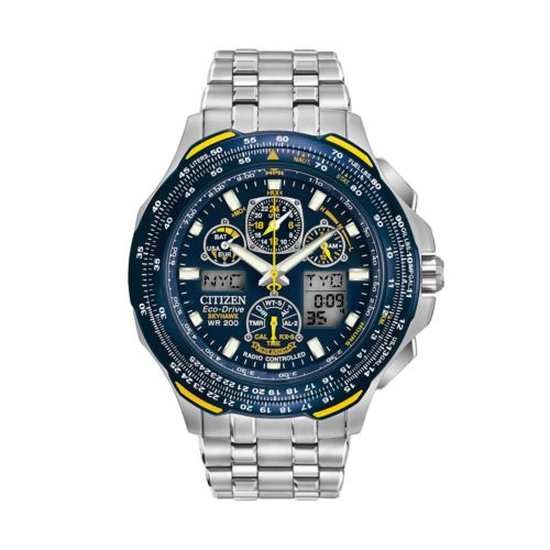 Citizen Eco-Drive Blue Angels Skyhawk A-T Stainless Steel Flight Watch - JY0040-59L - Men