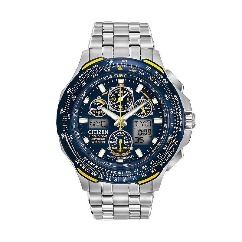 Citizen Eco-Drive Men's Blue Angels Skyhawk A-T Stainless Steel Flight Watch - JY0040-59L