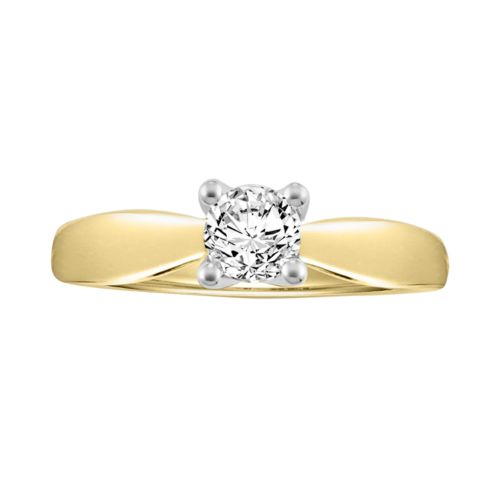 Cherish Always Round-Cut Certified Diamond Engagement Ring in 14k Gold (5/8-ct. T.W.)