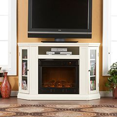 Abbey Convertible Media Console Electric Fireplace by