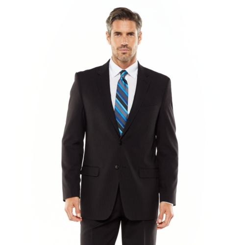 Men's Adolfo Classic-Fit Striped Charcoal Suit Jacket - Men