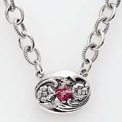 Lyric Sterling Silver Pink Topaz & Diamond Accent Necklace by