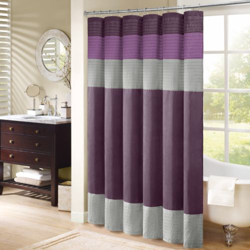 Madison Park Mendocino Striped Fabric Shower Curtain