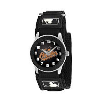 Game Time Rookie Series Baltimore Orioles Silver Tone Watch - MLB-ROB-BAL - Kids