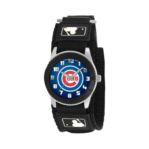 Game Time Rookie Series Chicago Cubs Silver Tone Watch - MLB-ROB-CHI