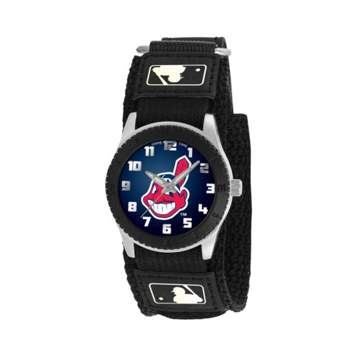 Game Time Rookie Series Cleveland Indians Silver Tone Watch - MLB-ROB-CLE