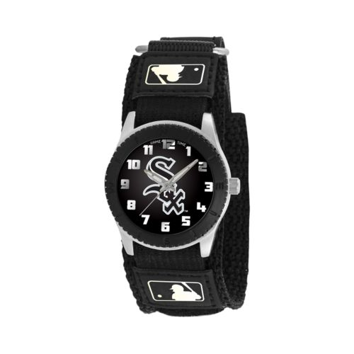 Game Time Rookie Series Chicago White Sox Silver Tone Watch - MLB-ROB-CWS