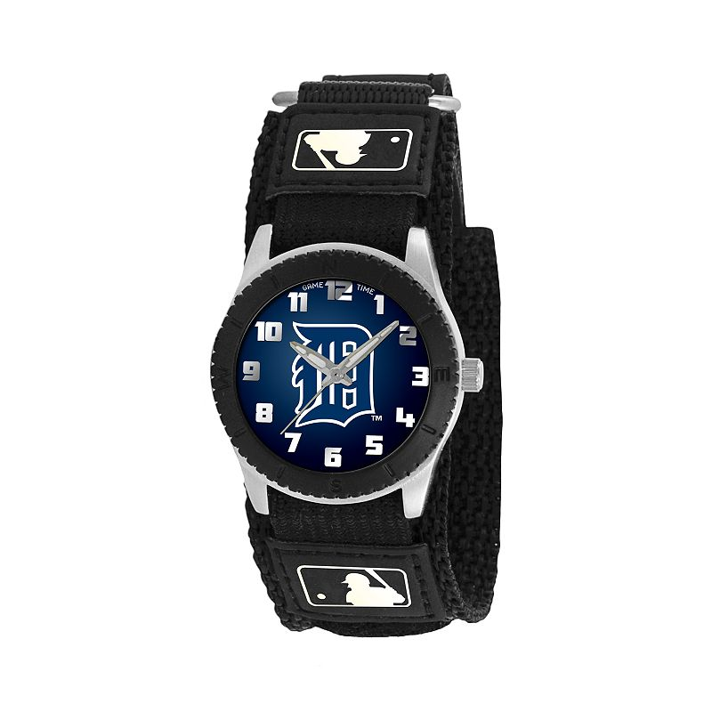 Game Time Rookie Series Detroit TigersSilver Tone Watch - MLB-ROB-DET