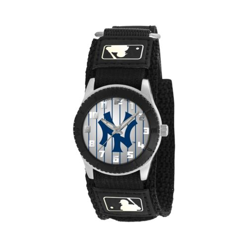 Game Time Rookie Series New York Yankees Silver Tone Watch - MLB-ROB-NY3