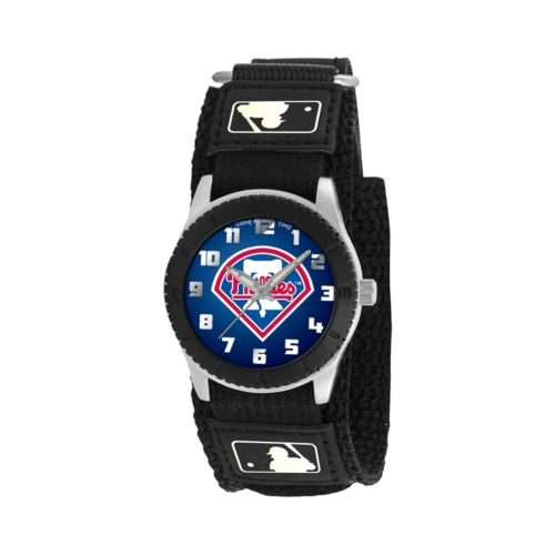 Game Time Rookie Series Philadelphia Phillies Silver Tone Watch - MLB-ROB-PHI