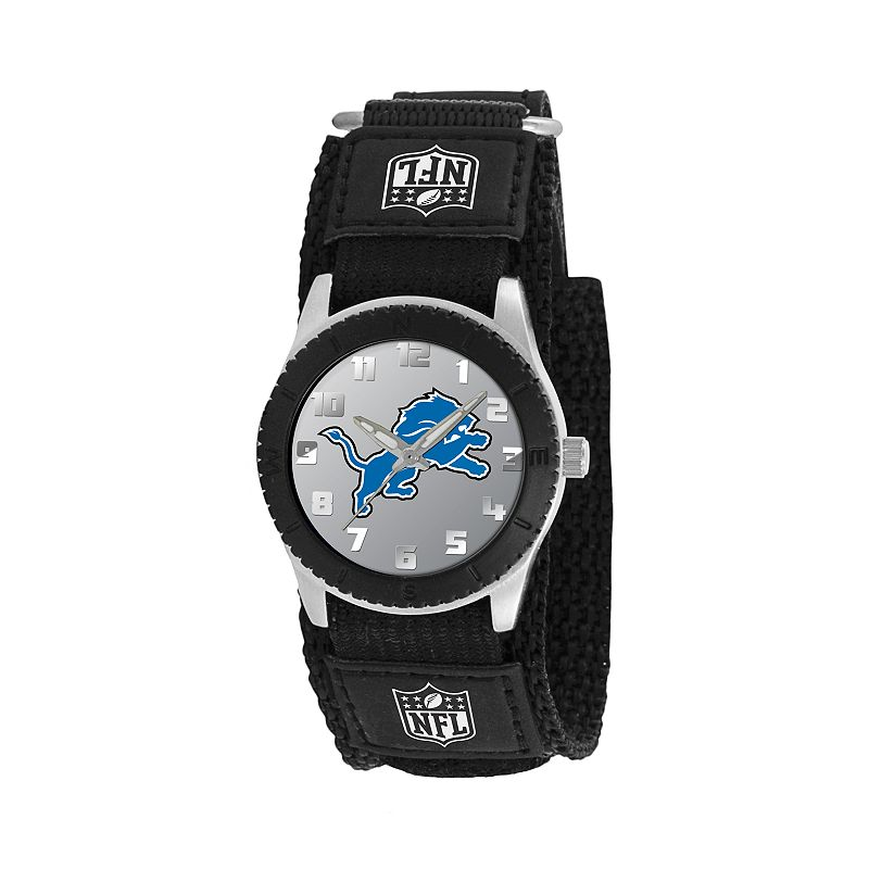 Game Time Rookie Series Detroit Lions Silver Tone Watch - NFL-ROB-DET - Kids